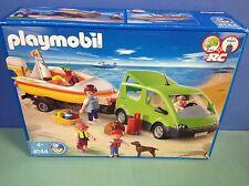 (O4144)  playmobil véhicule + bateau playmobil à la plage 100% complet ref 4144