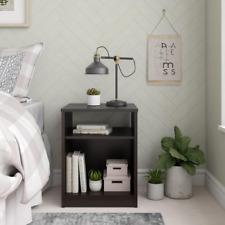 Nightstand Bedside Table End Side Shelf Furniture Vinyl Record Storage Espresso