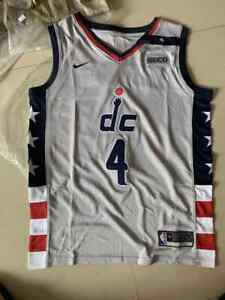 Washington Wizards # 4Russell Westbrook City Edition Swingman Jersey Gray