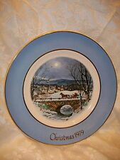 Avon Christmas Plate 1979 Dashing Through The Snow
