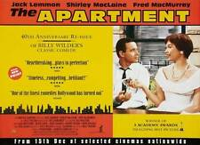 The Apartment Movie Poster 22x28 Uk Jack Lemmon Shirley MacLaine Fred MacMurray