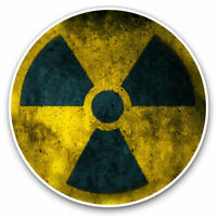 2 x Vinyl Stickers 7.5cm - Nuclear Waste Science Cool Cool Gift #2776