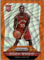 2015-16 Panini Prizm Prizms Orange Wave Basketball Card #310 Delon Wright