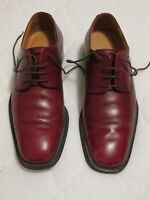 BALLY Tolones Red Leather Perforated Wingtip Lace Up Oxfords US6/EUR5 Square Toe