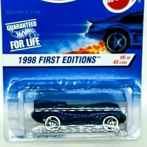 1998 Hot Wheels First Editions 6/48 Jaguar D-Type Blue Sawblade Error Collector