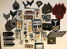VINTAGE US MILITARY PINS BADGES MEDALS LOT 50 piece OLD NEW  NO DAMAGE