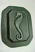 """Seahorse wall plaque mold plaster concrete casting mould 7"""" x 5"""" x 3/4"""" thick"""