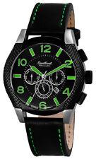 Automatikuhr Marke Engelhardt - Armbanduhr schwarz Kautschuk und Lederarmband