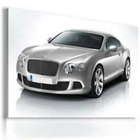 BENTLEY CONTINENTAL SILVER  Cars Wall Art Canvas Picture AU126 MATAGA