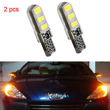 2pcs yellow T10 6SMD Car Silica Gel LED Wedge Light Plate License 194 2825 Bulb
