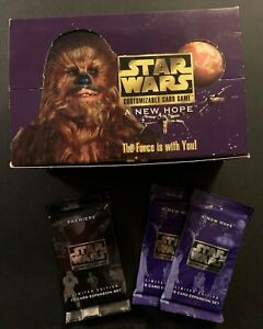 Star Wars CCG A New Hope Limited Edition plus Premiere (3 Boosters + Empty Box)