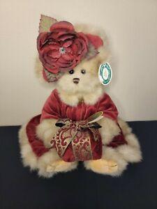 The Bearington Collection Virginia #1072 Teddy Bear Christmas Plush Red Rose