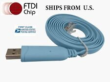 Cisco Console Cable USB RJ45 6ft FTDI   Windows 8, 7, Vista, MAC, Linux RS232
