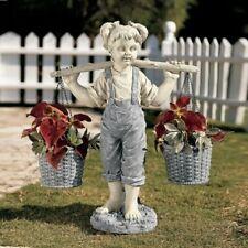 Lawn Art Outdoor Garden Decor DIY Resin Girl Statue Flower Pot Yard Decoraiton