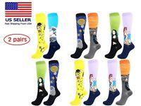 2 Pairs Compression Socks Stockings Womens Mens Knee High Medical 20-30mmHG