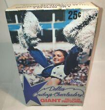 Topps 1981 Football Dallas Cowboys Cheerleaders Giant Full Color Photocards Box