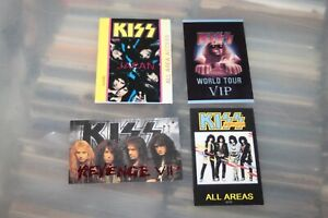 KISS - 4x Backstage Pass inlay cards   -  FREE SHIPPING -
