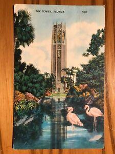 Vintage Postcard - Bok Tower, Florida - Postmarked April 4, 1954 - Nice Cond!