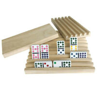 4 Handmade Wooden Domino Holders Mexican train for Mahjong Chicken foot