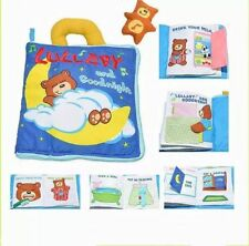 Teddy Bear Lullaby and Goodnight Bedtime Baby Child Interactive Soft Cloth Book