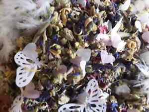 Environmentally Friendly Confetti using leaves, feathers, dried petals and herbs