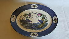 Blue Yang Tse design vintage Art Deco antique meat plate platter A