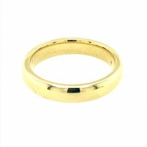 9ct Gold D Shape Wedding Band