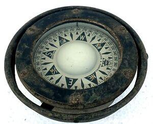 Real Antique KELVIN & HUGHES Ship Compass Vintage Collectible Maritime Compass.