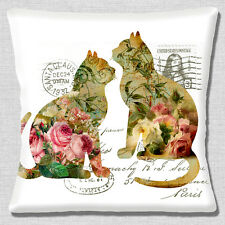 "NEW SHABBY CHIC CATS POST FRENCH COUNTRY STYLE WHITE 16"" Pillow Cushion Cover"