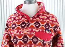 Patagonia Synchilla Snap-T Fleece Pullover Womens sz M medium jacket pink 25455