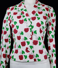 Vintage 90s Moschino Novelty Print Jacket Grapes Mid Century