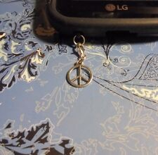 Peace Sign Cell Phone Clip Charm~Dust Cover~All Phones~Free Ship