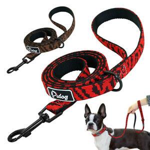 4ft Dog Nylon Walking Leash Small Medium Dogs Training Lead With Handle Rope Red