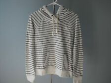 New Abercrombie & Fitch Women Grey Striped Hoodie Size M