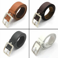 Women Men Leather Dress Belt Casual Pin Buckle Waist Strap Belts Waistband Decor