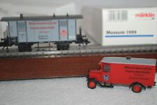 MARKLIN HO 1999 MUSEUM CAR WITH TRUCK NEW  IN BOX