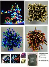 BATTERY OPERATED LED XMAS FAIRY LIGHTS TREE TIMER INDOOR OUTDOOR CHRISTMAS PARTY