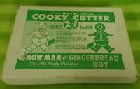 Vintage Metal Cookie Cooky Cutter Gingerbread Boy / Snowman & Tree - Boxed