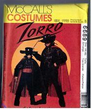 McCalls 6689 ZORRO Vintage 1993 Costume Pattern Uncut Mens Extra Large Size