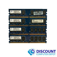 8GB KIT 4 x 2GB DDR2 PC2-6400u Desktop DIMM 800 MHz Memory RAM Kit Upgrade