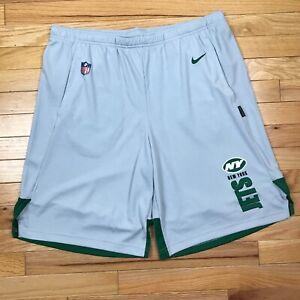 Nike Men's New York Jets Shorts Gray Dri-Fit Size L CJ8853-012 NWT NFL