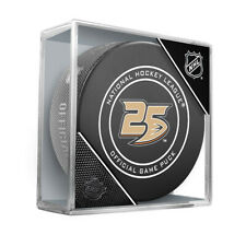 Anaheim Ducks 25th Anniversary Official Game Puck