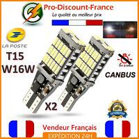 2 x ampoule LED T15 W16W 4014 BLANC XENON CANBUS ANTI ERREUR Veilleuse VOITURE