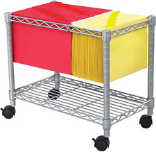 Safco Products Wire Mobile Letter/Legal File Cart 5201Gr, Gray Powder Coat Finis