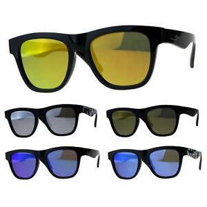 Kush Mens Plastic Horn Rim Hipster Classic Sport Sunglasses
