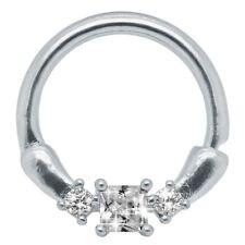 Piercing Septum Nose Ring Nipple Piercing Click Closure Hinge Rhinestone