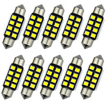 2x 36mm 2835 Festoon Canbus 8SMD LED Car Interior Dome Map Light Bulb Lamp White