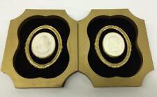 Pair Of Oval Plaster Intaglios In Modern Frames Lot 2371