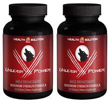 "Male Enlargement Pills - ""Unleash V Power"" Male Stamina Enhancement (2 Bottles)"