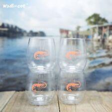 4-pk Wine-Oh! Designer BPA Free Plastic Shatterproof Wine Glass SHRIMP